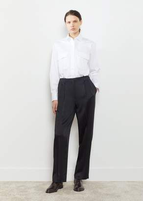 The Row Firth Satin Crepe Pant Black