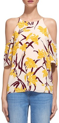 Whistles Silk Cold Shoulder Top $250 thestylecure.com