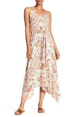 Lucky Brand V-Neck Printed Maxi Dress
