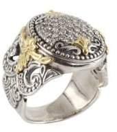 Konstantino Asteri Pavé White Diamond, 18K Yellow Gold and Sterling Silver Ring