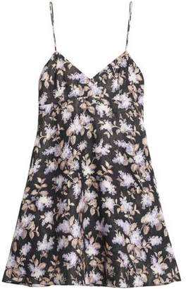 Zimmermann Flared Floral-Print Linen Mini Dress