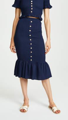 Suboo Last Night Shirred Skirt