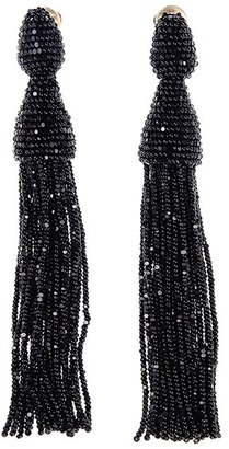 Women's Oscar De La Renta Long Tassel Drop Clip Earrings $395 thestylecure.com