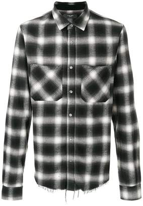 Amiri checkered print flannel shirt
