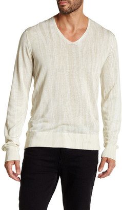 John Varvatos Collection V-Neck Long Sleeve Sweater $498 thestylecure.com