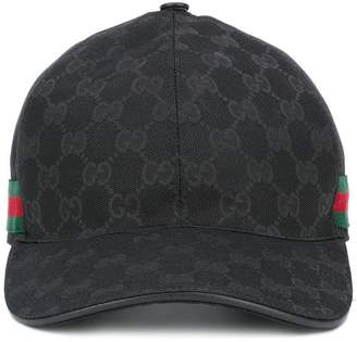 Gucci Original GG web stripe baseball cap
