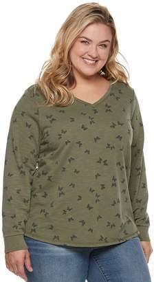 Sonoma Goods For Life Plus Size SONOMA Goods for Life V-Neck Easy Sweatshirt