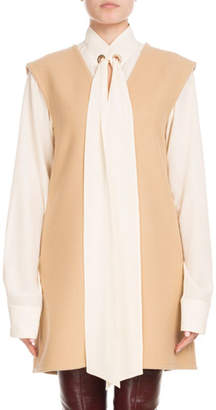 Chloé Sleeveless V-Neck Wool Jumper Dress