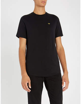 Emporio Armani Logo-embroidered cotton-jersey T-shirt