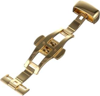 Hadley-Roma 16-mm IP Yellow Gold-Plated Push Button Deployant Clasp