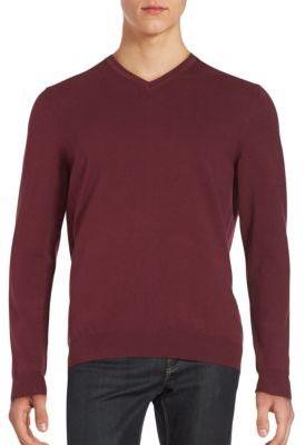 Long Sleeve V-Neck Sweatshirt