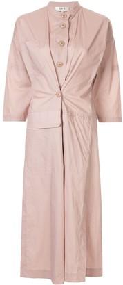 Sea fusion coat dress