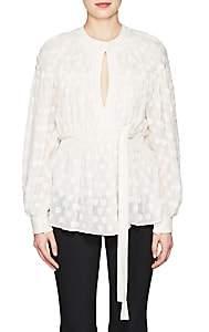 Proenza Schouler Women's Silk-Cotton Fil Coupé Blouse - White