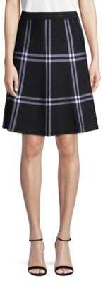 Saks Fifth Avenue Plaid A-Line Skirt