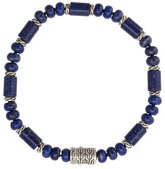 John Hardy Silver Classic Chain Lapis Lazuli Bead Bracelet