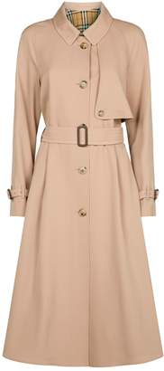 Burberry Wool Single-Breasted Trench Coat