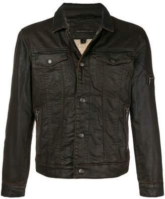 John Varvatos fitted denim jacket