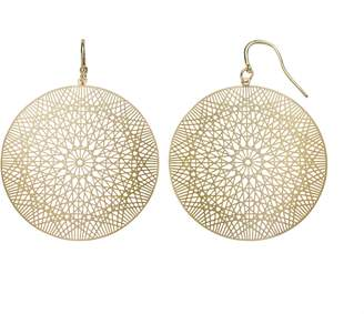 JLO by Jennifer Lopez Geometric Filigree Disc Drop Earrings