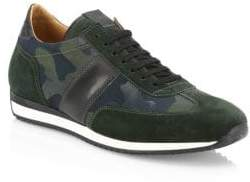Saks Fifth Avenue COLLECTION Camo Leather& Suede Sneakers