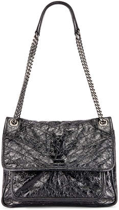 Saint Laurent Medium Niki Chain Bag in Black | FWRD