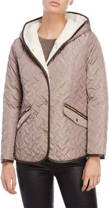 Cole Haan Sherpa-Lined Quilted Jacket