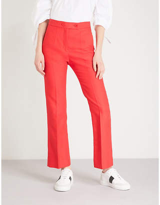 Sandro Flared cotton-blend trousers