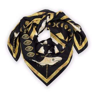 Coleman Louise Gold Moth Silk Scarf