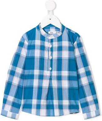 Knot tartan shirt