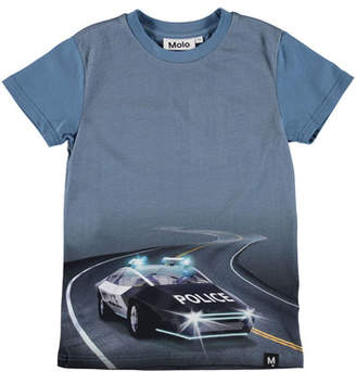 Molo Raven Police Car Graphic Tee, Size 4-10