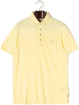 Ted Baker ボタンダウン 半袖ポロシャツ レモン 1