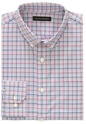 Banana Republic NEW Slim-Fit Tech-Stretch Cotton Grid Shirt