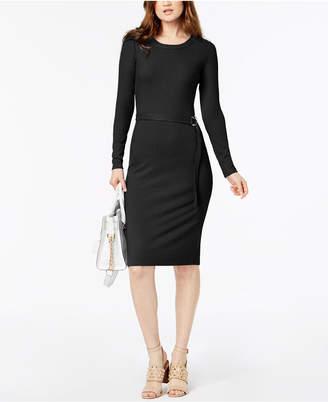 Michael Kors Ribbed Belted Dress
