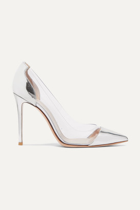 Gianvito Rossi Plexi 105 Patent-leather And Pvc Pumps - Silver