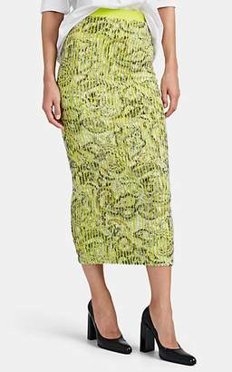 Y/Project Women's Paisley Pencil Skirt - Green