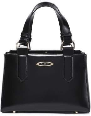 Lanvin Glossed-Leather Shoulder Bag