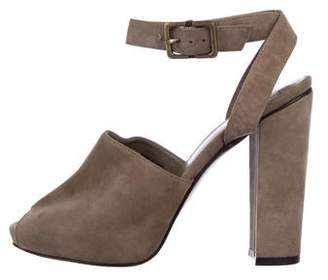 Diane von Furstenberg Suede Ankle-Strap Pumps