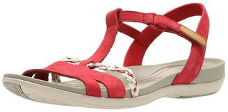b2237e2e1111 Clarks Tealite Grace Flat Sandal Shoes - Red