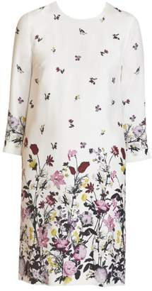 Erdem Emma Floral Silk Shift Dress