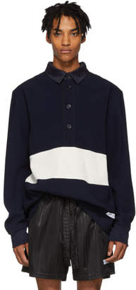 Daniel W. Fletcher Navy Panelled Rugby Shirt