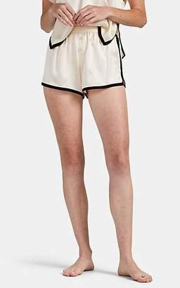 Morgan Lane Women's Martine Silk Pajama Shorts - Cream