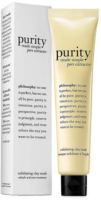 philosophy 2.5Oz Purity Made Simple Pore Extractor Exfoliating Clay Mask