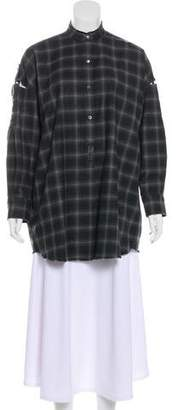 Helmut Lang Wool Button-Up Top