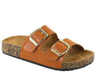 93267322bff ANNA Women s Casual Buckle Straps Sandals Flip Flop Platform Footbed ...