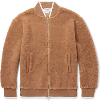 Thom Browne Camel Hair and Silk-Blend Bomber Jacket - Tan