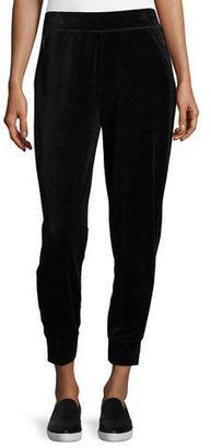 Elie Tahari Simone Velour Jogger Pants, Black $128 thestylecure.com
