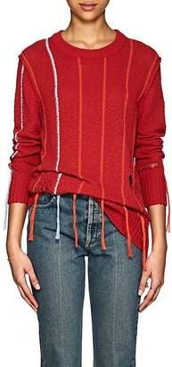 Raquel Allegra Women's Striped Cotton Bouclé Sweater