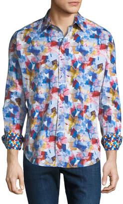 Robert Graham Men's Groveland Woven Sport Shirt