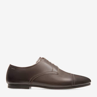 Bally Plentium Brown, Men's calf leather derby shoe in coffee