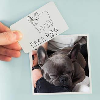 Breed Ellie Ellie Best Dog Dad Illustration Fridge Magnet