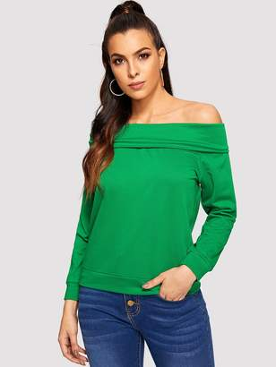 df07b0cef42cc1 Off The Shoulder Sweatshirts - ShopStyle